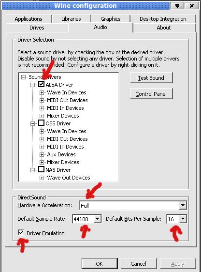 Audiocontrolpanel